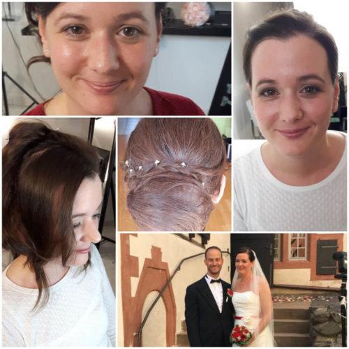 Brautstyling vorher - nachher